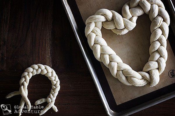 Braided Heart Bread | Pleteno Srce | Global Table Adventure