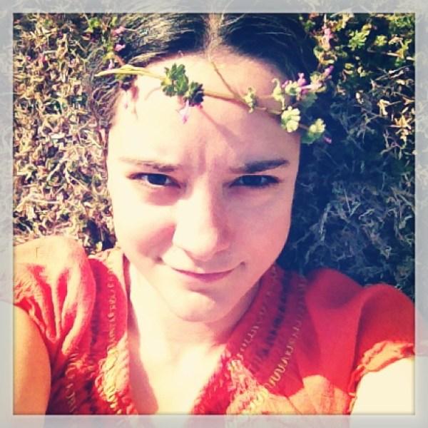 Sasha with flower crown