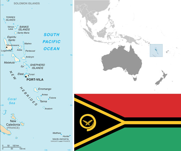 Maps and Flag courtesy of the CIA World Factbook.