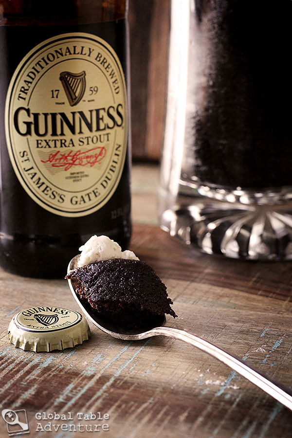 Guinness Chocolate Cake and Bailey's Buttercream... in a mug!
