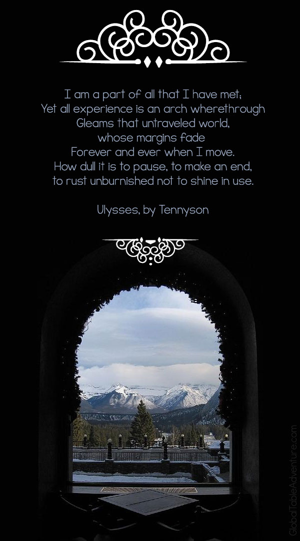 Quote from Tennyson's Ulysses. Plus dozens of other inspiring quotes from around the world.