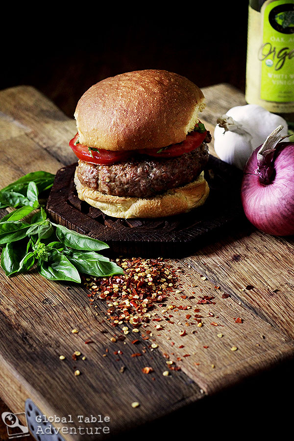 The World in 12 Burgers: Asian Edition (The Central Asian/Red Pepper and Basil Lamb Burger)
