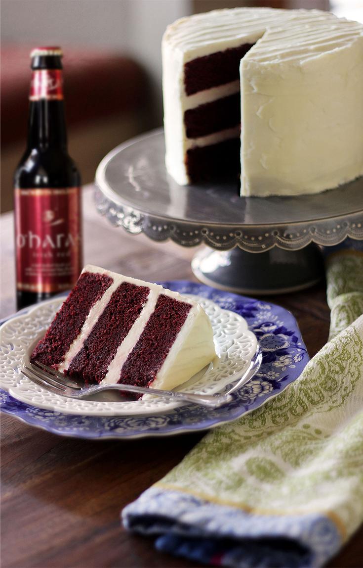 Velvet Traditional Recipe Cake Red