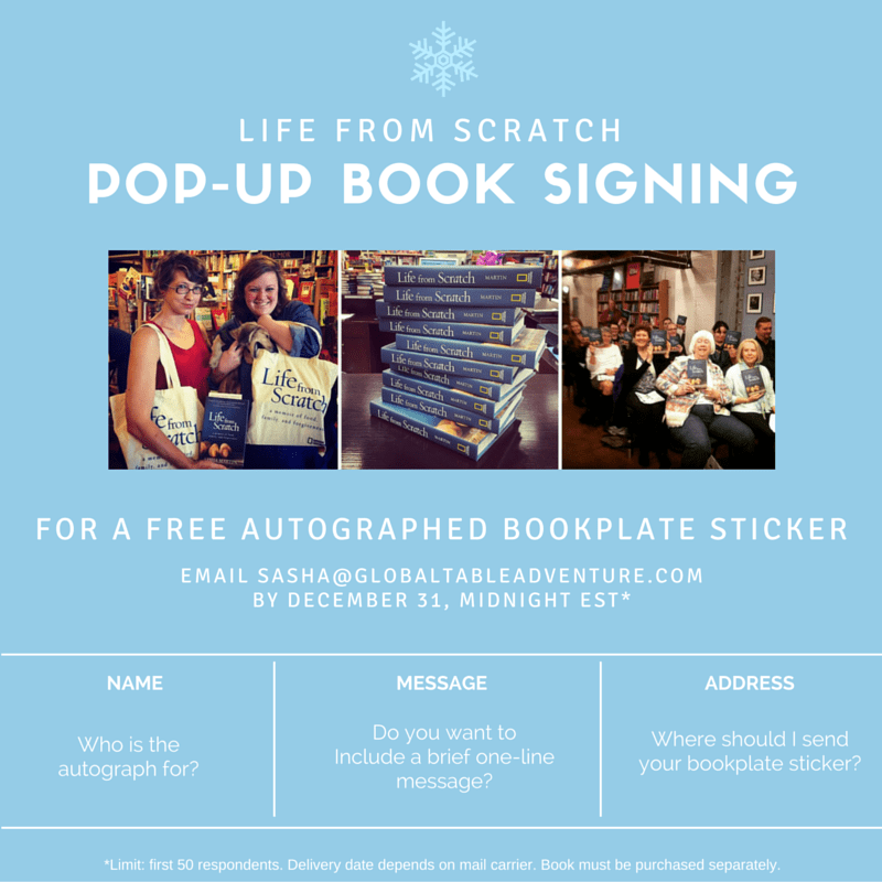 Pop up book signing - Life from Scratch