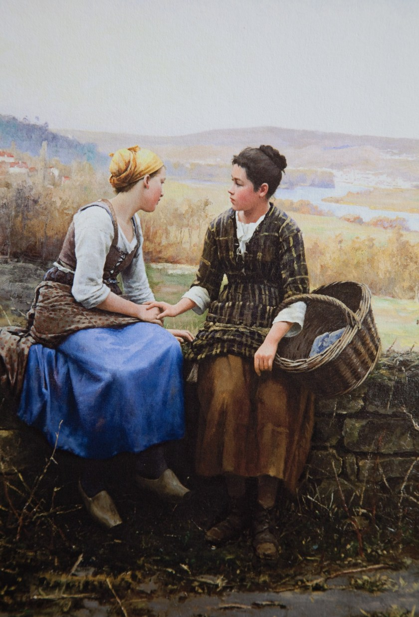 Peace is grace for what you *can't* see // The First Grief (Le Premier Chagrin) by Daniel Ridgway Knight, 1892, Brigham Young University Museum of Art