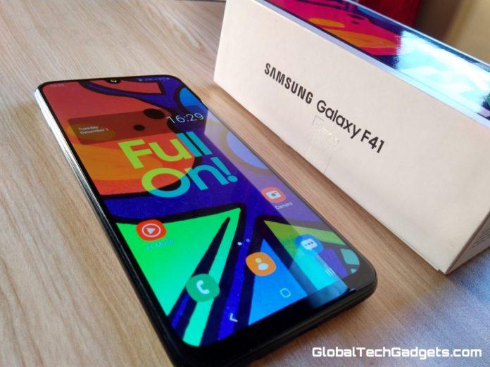 Samsung F41 Design & Display.