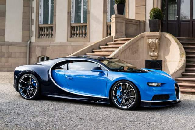 Bugatti Chiron Blue and Black