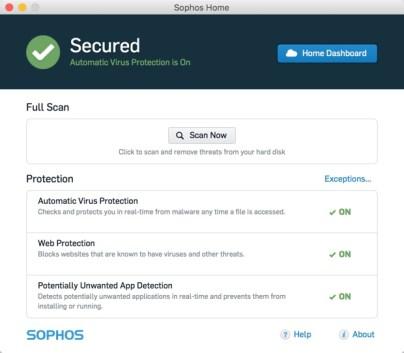 Sophos Home Free Antivirus