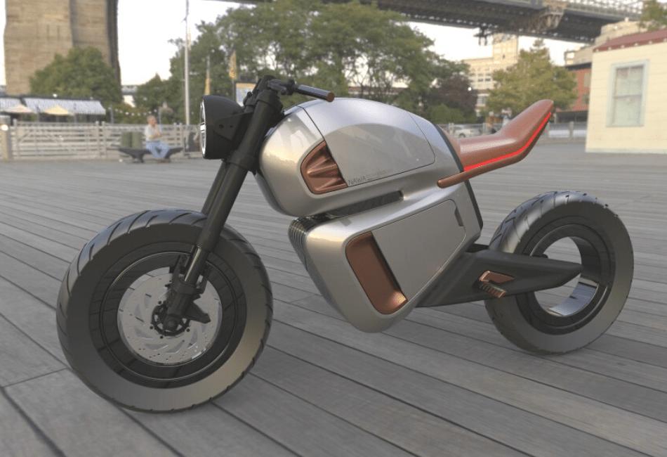 New NAWA RACER Hybrid Electric Motorbike With Sleek Design