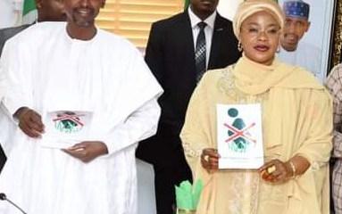 The FCT Minister Malam Muhammad Musa Bello and State FCT Minister, Hajiya Ramatu Tijjani Aliyu