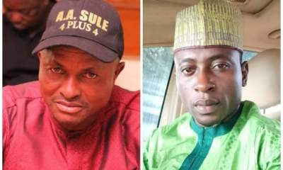L-R: APC Chairmanship candidate, Hon. Abdullahi Aliyu Tashas (Aquatic) and Vice Chairmanship candidate, Alhaji Abubakar Haruna Kwanakis (Rumbos).