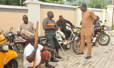 Kogi State Commissioner for Solid Minerals and natural Resources, Hon. Engr. Abubakar Muhammed Bashir Gegu Addressing people living with disabilities at the promises of his office