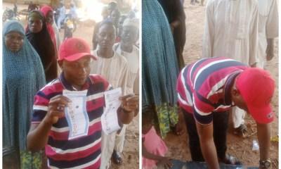 Toto LG APC Chairmanship candidate, Hon. Alhaji Abubakar Haruna Kwanakis voting during the election in the area.