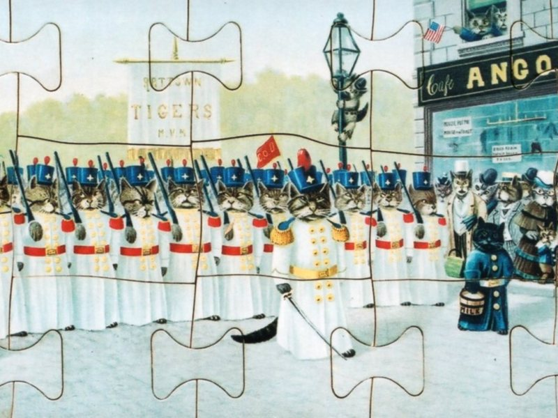 Cattown Parade jigsaw puzzle, about 1900. The Strong, Rochester, New York