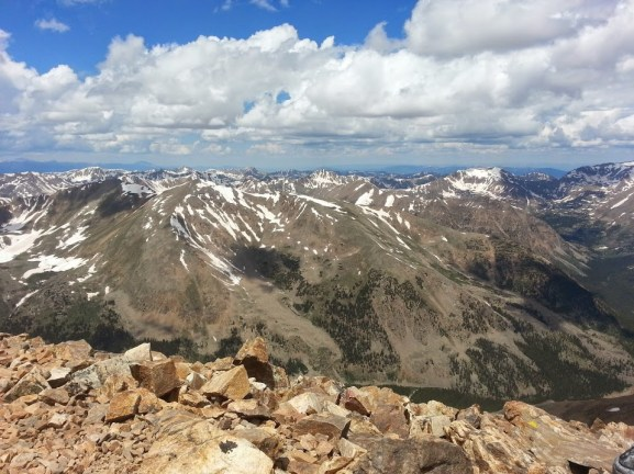 Standing above everything in sight on Mount Elbert.