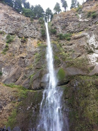 Multnomah Falls, the second tallest waterfall in the US, in Hood River, Oregon.