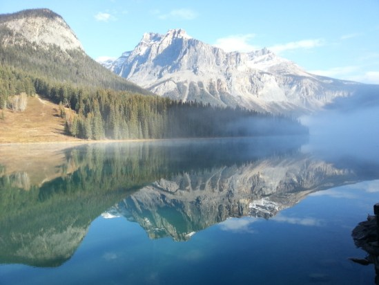 Member Diana M. caught this stunning photo of Emerald Lake. The Fog just tops it all off.