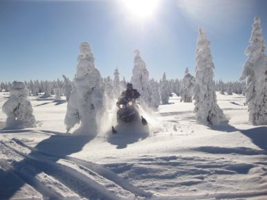 Snowmobiling outside of Yellowstone National Park. - Member Tim S.