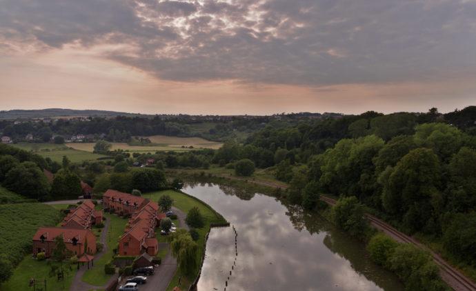 The river Esk and railway. Photo Credit: Matt Buck