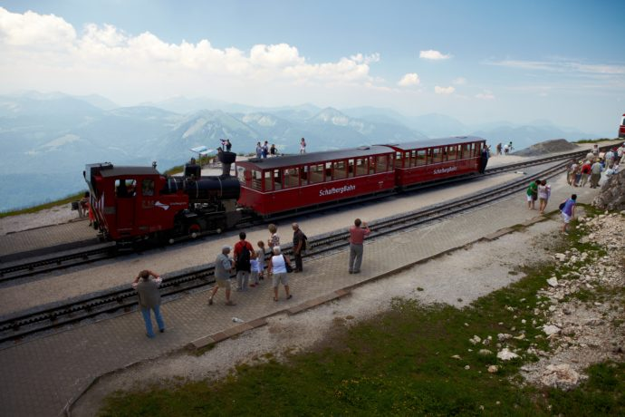 The Schafberg Bahn provides a picture perfect panorama. Photo Credit: Stefan Ledwina/Flickr