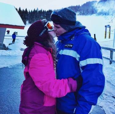 """""""Nothing beats a stolen kiss and a last-minute deal snow skiing at Ober Gatlinburg. Thanks for the memories, GDV."""" - Donna H."""
