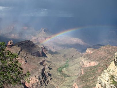 """Rainbow over the South Rim of the Grand Canyon."" - Member Michael R."