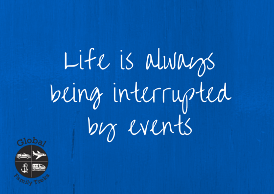 life is interrupted by events graphic