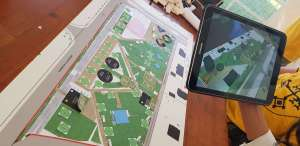 Augmented reality application for urban planning