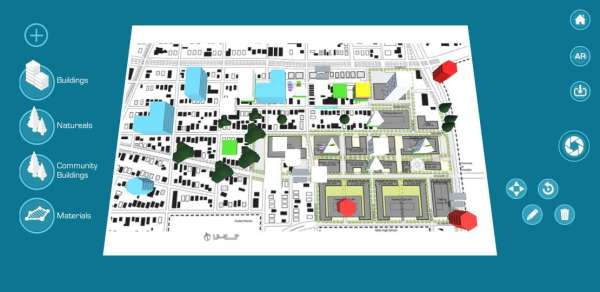 Interface for 3D masterplan building