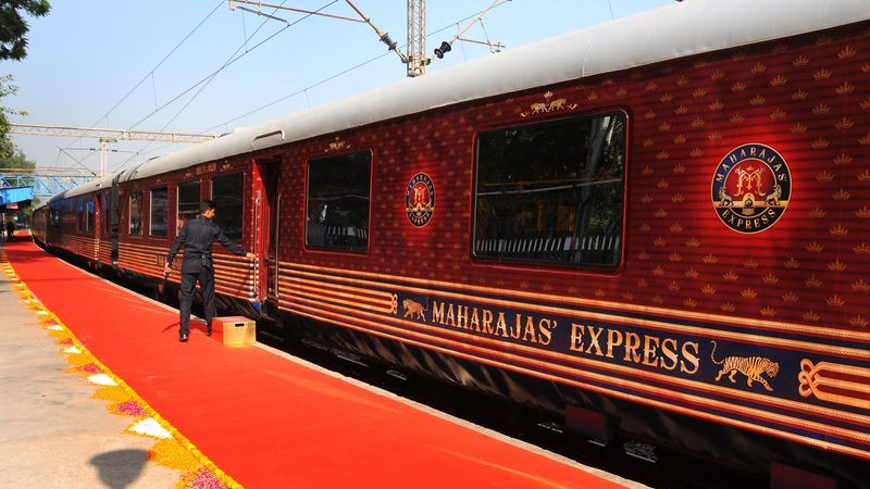 Maharajas' Express the world's leading luxury train. Delhi, India. Image by Himanshu Sharma. Copyright Demotix (4/10/2015)