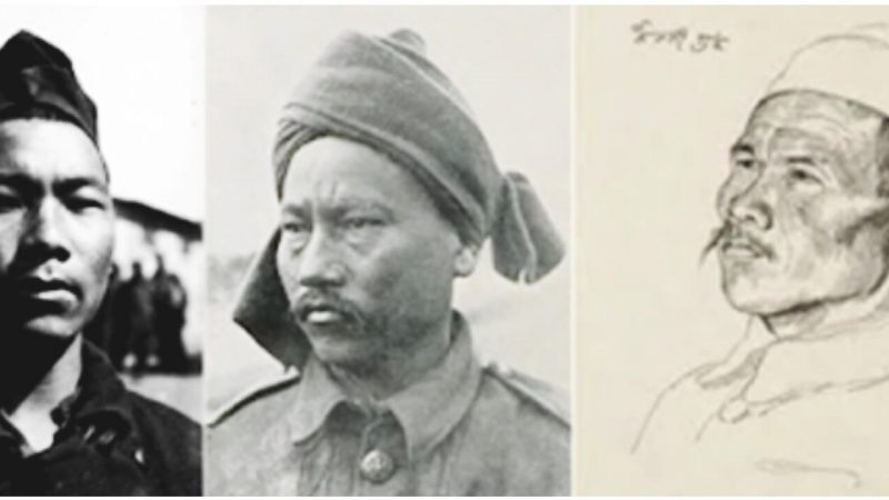 Gurkha prisoners of war in a German camp. Some of their voices recorded in song and stories are now in the Humboldt Museum archives. Courtesy: Sir Kukri & Co. via Nepali Times.