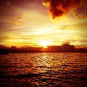 Il favoloso tramonto sulla Baia di Manila