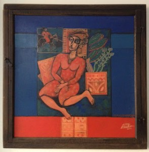 Oil painting by Fouad Al Foutaih, from the private collection of the author of this post, Noon Arabia