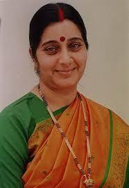 Sushma Swaraj. Image by Shamik Faraz, Wikimedia Commons