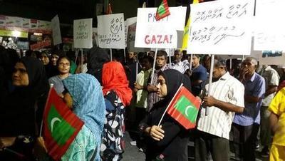 Maldives - July 12, 2014.