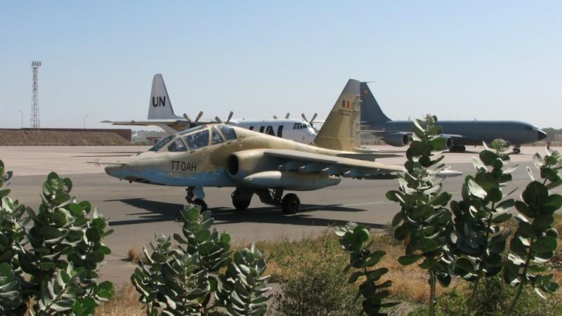Chad Air Force Sukhoi Su-25 at N'djamena Airport CC-BY-40 license. Via wikimedia commons