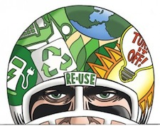 The greening of the Superbowl. The efforts are laudable, but the event is still responsible for more than 300,000 tons of GHG's