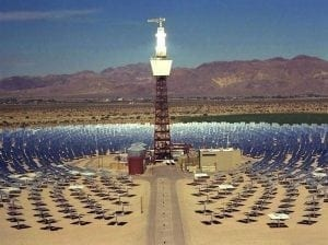Concentrating solar plant in the California desert