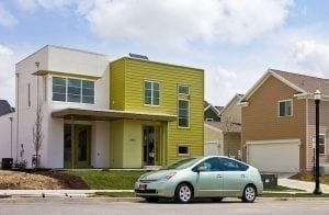 "An example of a ""postmodern"" Solaris green home. Any house can be made greener!"
