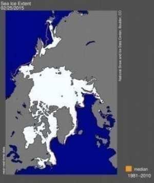 Arctic Sea Ice Maximum Reaches Lowest Extent on Record