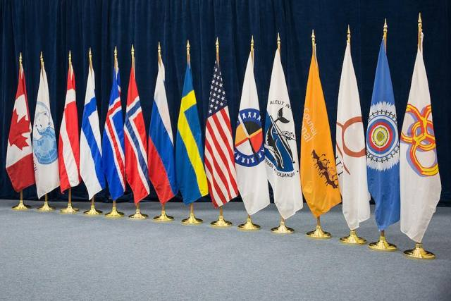 Flags of the Arctic Council Nations and  Native Communiities