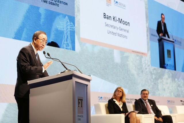 IRENA Scaling Up Renewables 0116 Ban ki Moon