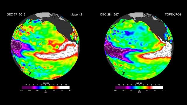 NASA El Nino 1997-2015 Comparison