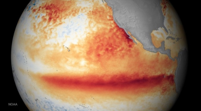 Sea surface temperature - October 2015