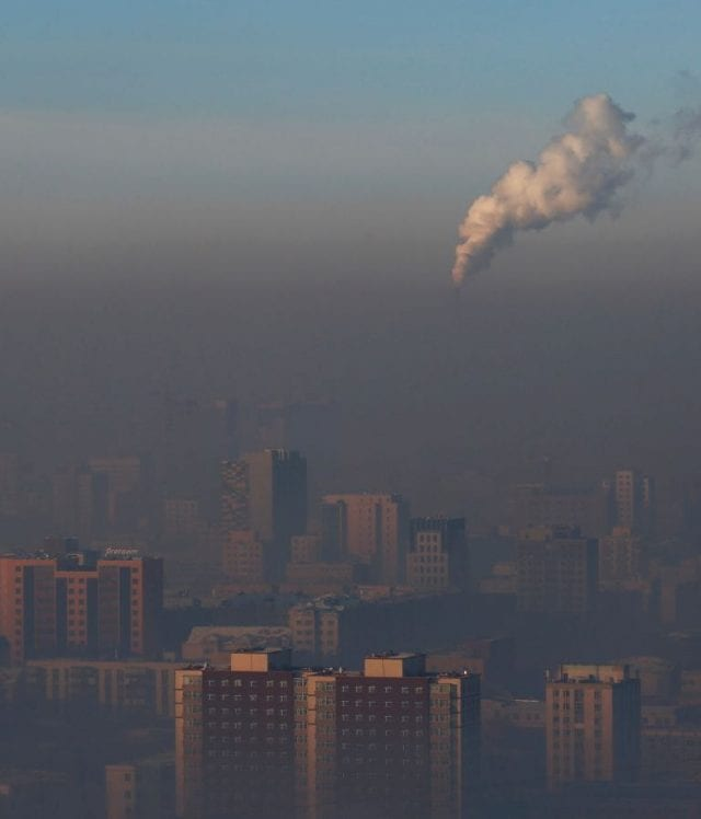 Human health is severely impacted by dirty, polluted air, as this photo of Ulaanbaatar demonstrates