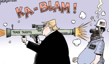 trump trade war tariff steel