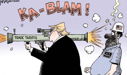 Image result for trump tariff cartoon