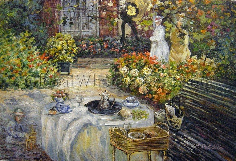 Claude Monet A Luncheon Oil Paintings On Canvas