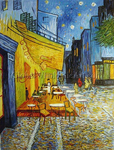 Vincent Van Gogh  Cafe Terrace At Night  Oil Paintings