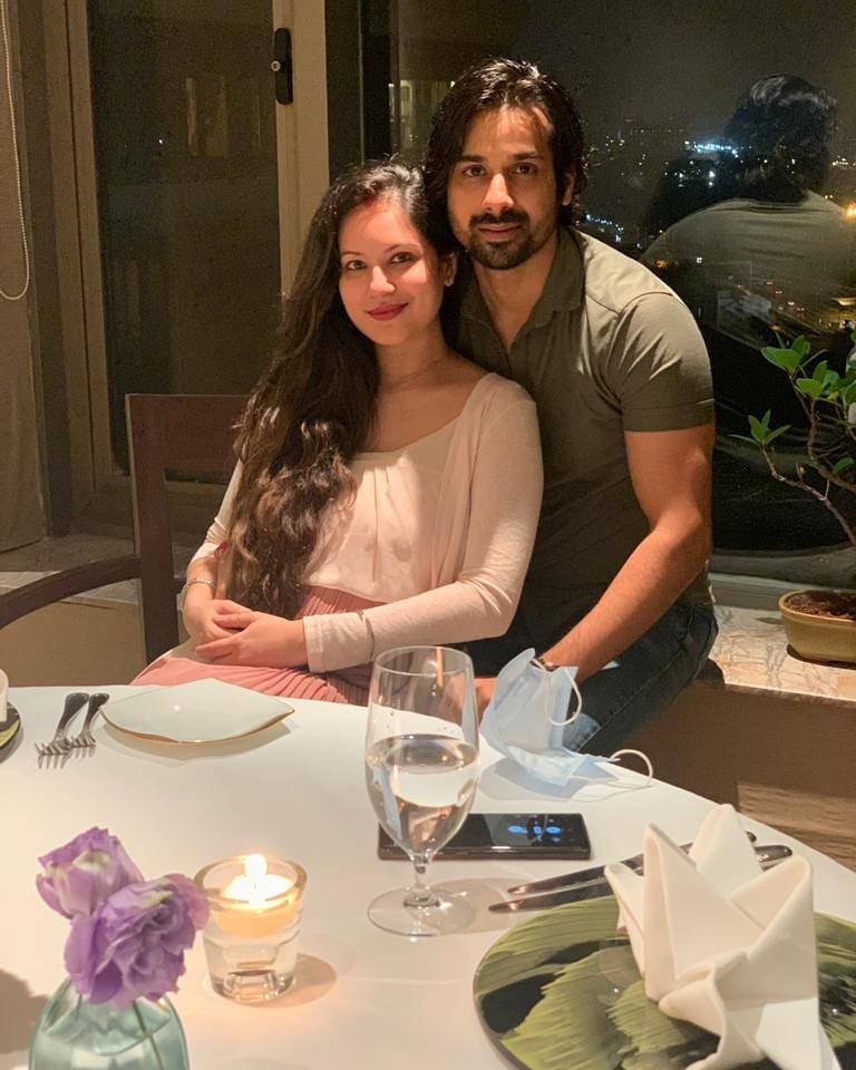 Puja Banerjee with Her Husband